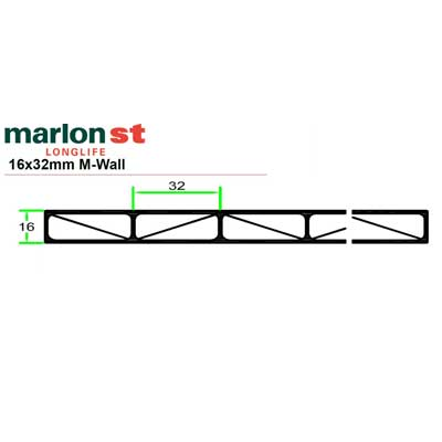Marlon® Premium Longlife 16mm glasklar