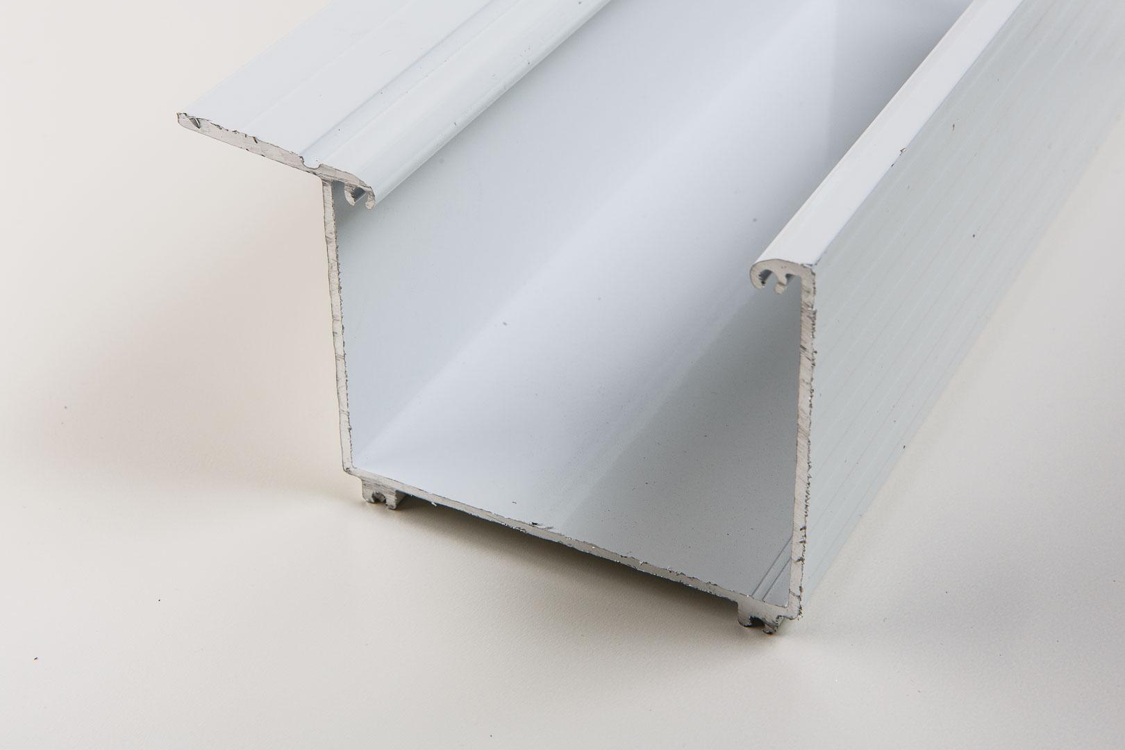 Aluminium Kastenrinne weiß inkl. Zubehör