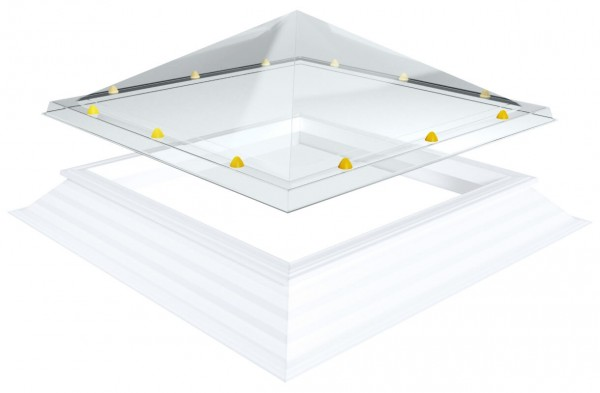 pyramidenförmige Lichtkuppel, quadratisch 110x110cm