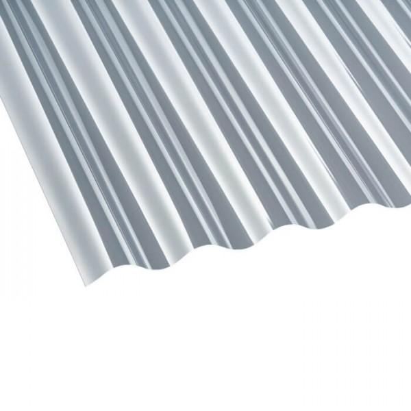 PVC Profilplatte Sinus 76/18 klar liegend
