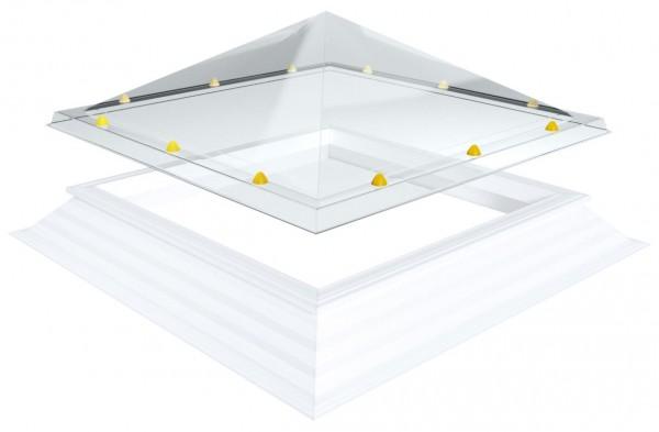 pyramidenförmige Lichtkuppel, quadratisch 130x130cm