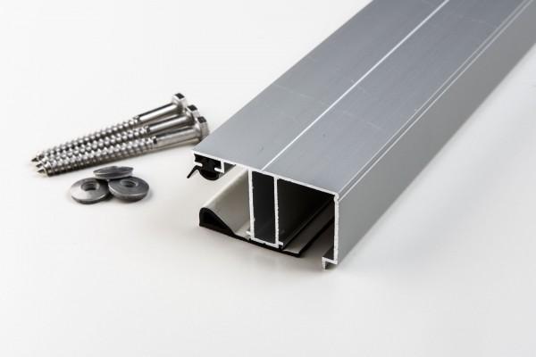Aluminium Randprofil einfach für 16mm blank
