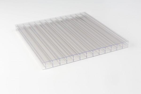 Polycarbonat 16mm X-Struktur klar liegend