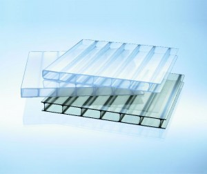 Acryl Highlux® Stegplatte 16/32 opal-weiß