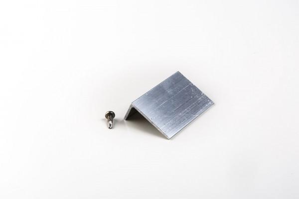 Aluminium Abrutschwinkel blank