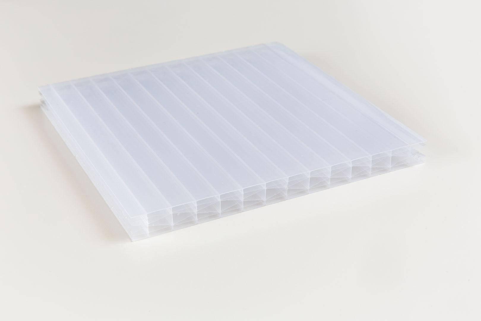 Polycarbonat 16mm X-Struktur opal