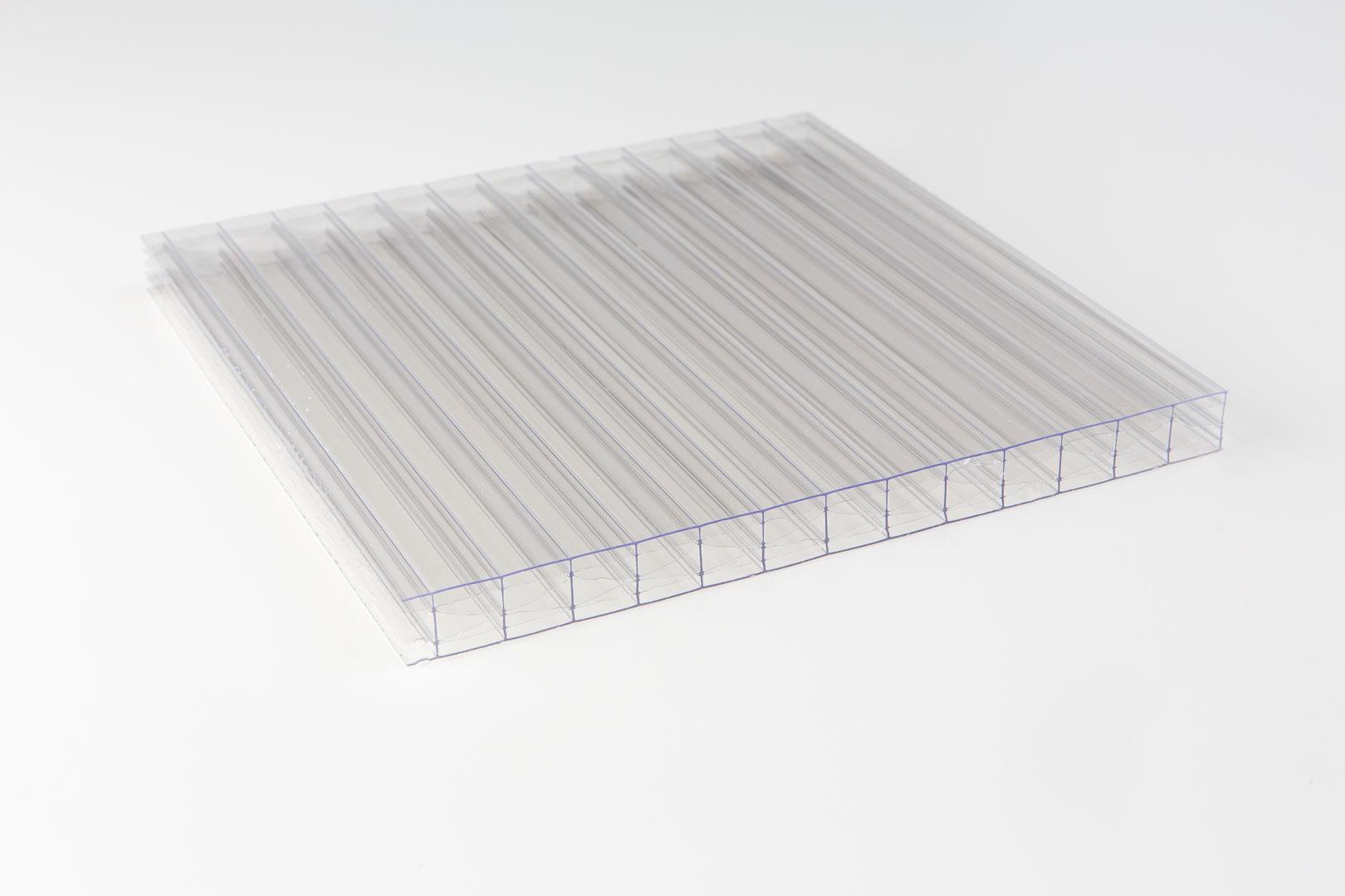 Polycarbonat 16mm X-Struktur klar