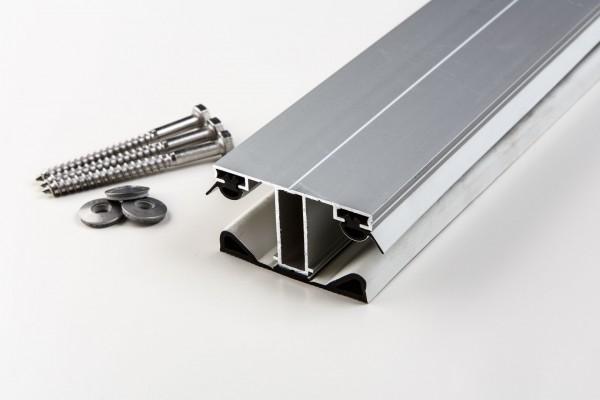 Aluminium Mittelprofil einfach für 16mm blank