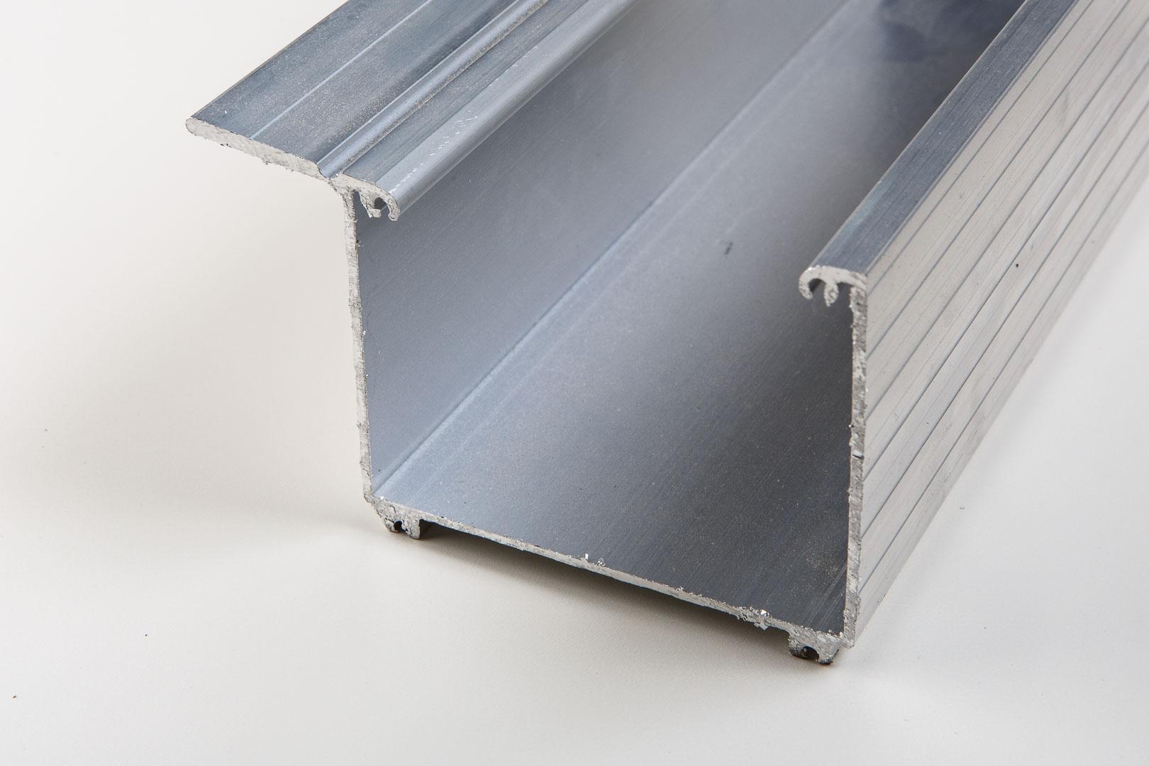 Aluminium Kastenrinne pressblank inkl. Zubehör