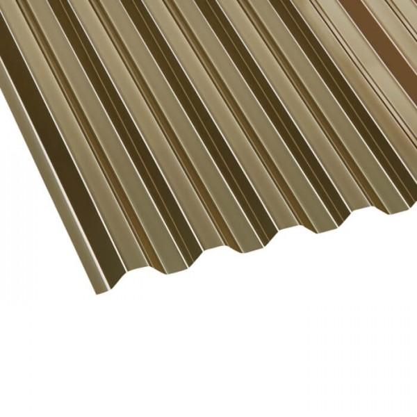 PVC Profilplatte Trapez 70/18 bronze liegend