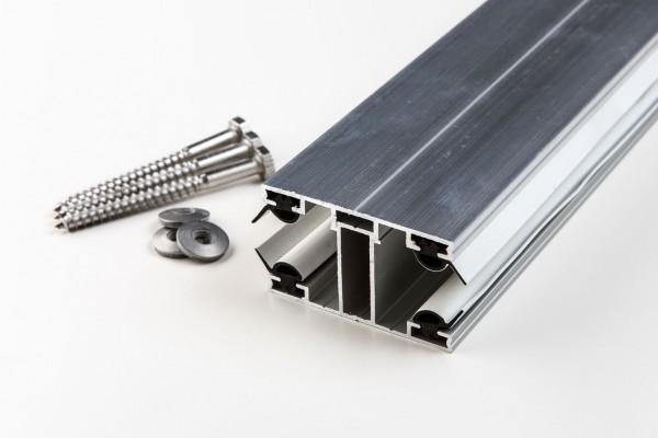 Aluminium Mittelprofil kompl. für 16mm blank
